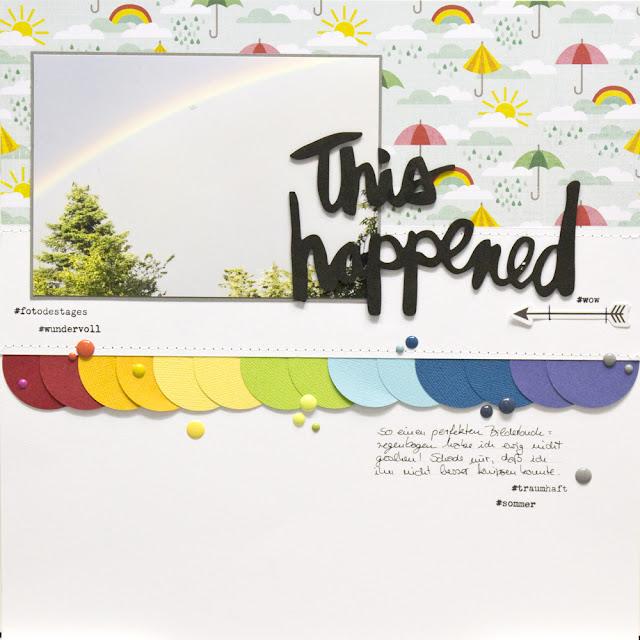 7 Tage 7 Sketche Regenbogen Layout