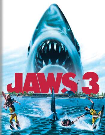 Poster Of Jaws 3 1987 Dual Audio 720p BRRip [Hindi - English] Free Download Watch Online Worldfree4u