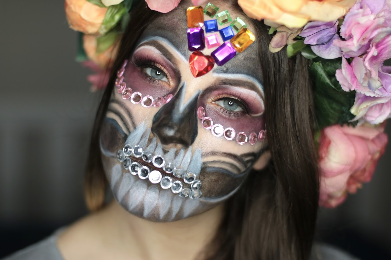 Sugar Glam Skull - Halloween Makeup