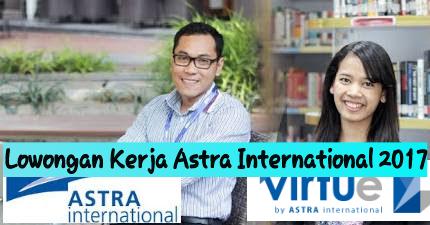 Lowongan Kerja PT Astra International Tbk (Virtue Astra) Agustus 2017