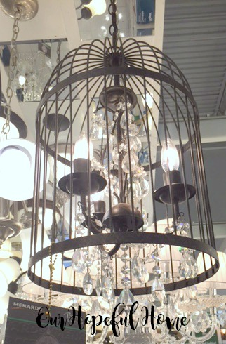 Menard's Patriot Lighting Victoria 3-Light Caffe Patina Chandelier birdcage