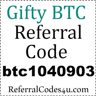 Gifty BTC App Referral Code, Invite Code, Reviews & Hacks 2018-2019