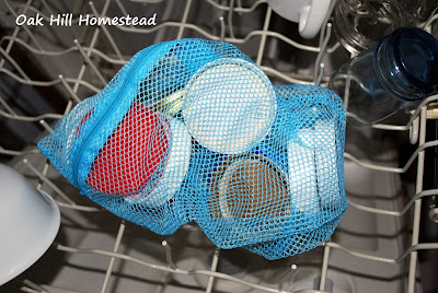 Mason jar lids in dishwasher