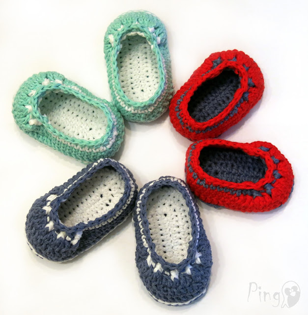 Crochet Baby Booties Amanda, Crochet Pattern by Pingo - The Pink Penguin