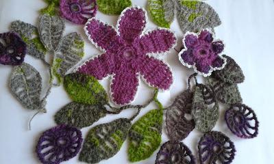 #цветы_и_листья_крючком