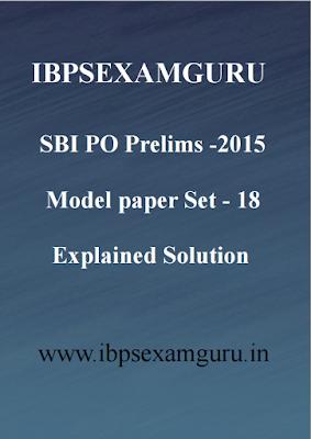 SBI PO Preliminary 2015 Practice Set 18