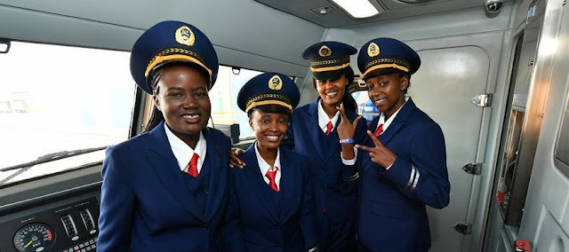THE BEAUTIFUL LADIES WORKING AT THE SGR TRAINS STOLE THE SHOW AS MEN COULDN'T TAKE THEIR EYES OFF THEM
