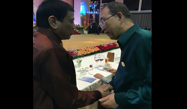 Duterte meets UN chief at ASEAN dinner