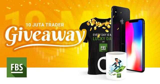 Ada Giveaway dari FBS (10 Juta Trader), Ambil Peluang Hadiah (Kaos, Mug, dan Iphone X)