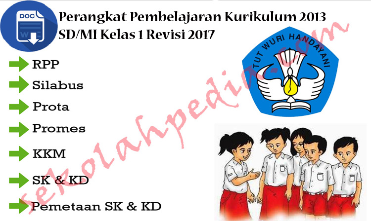 Perangkat Pembelajaran Kurikulum 2013 SD/MI Kelas 1 Revisi 2017