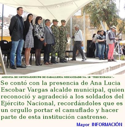 Jóvenes de Cundinamarca juran bandera en el municipio de La Calera
