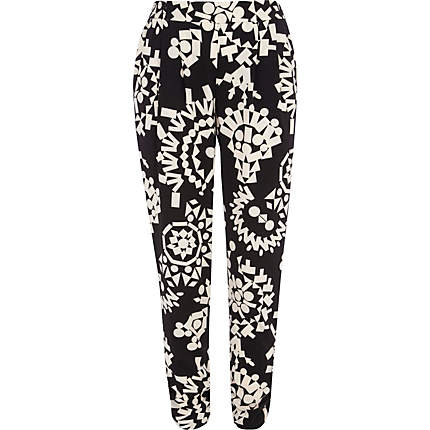 Monochrome, Trousers, Graphic, Print, Mollie King, The Saturday's, River Island