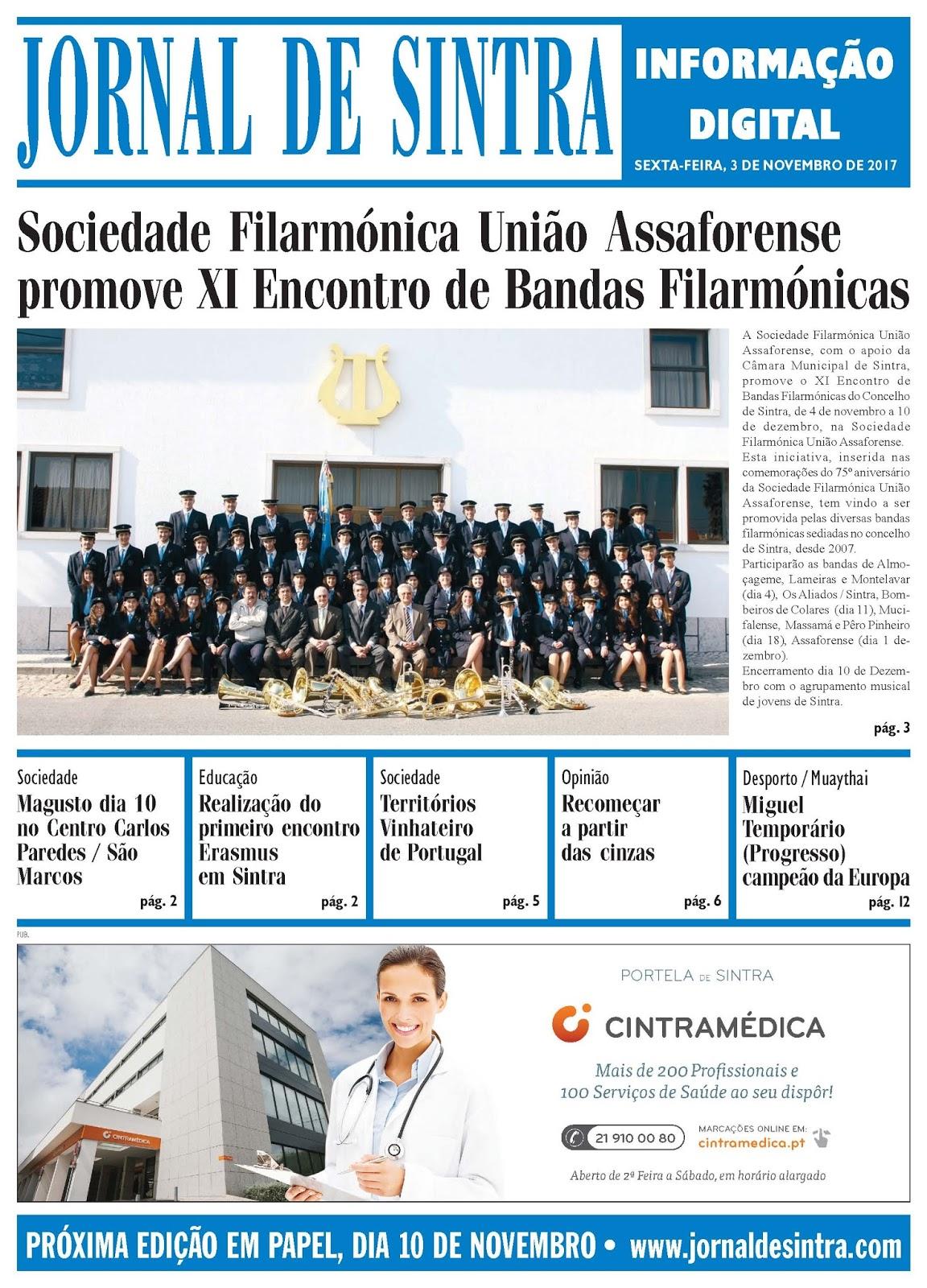 Capa da edição de 03-11-2017
