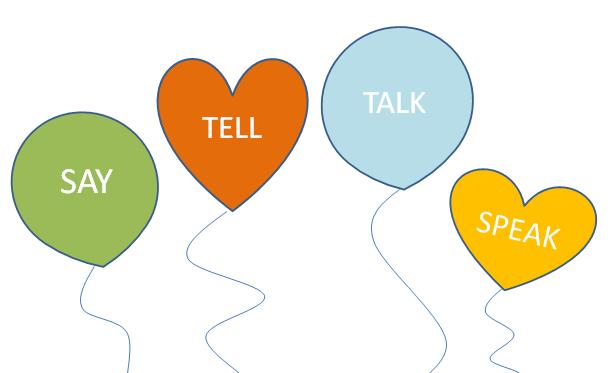Phân biệt 4 động từ SAY - TELL - TALK - SPEAK
