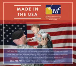 Image: IVF New Jersey Offers Significant Discount for Active U.S. Military Personnel and Veterans