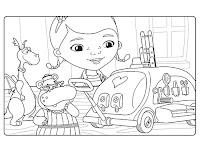 דפי צביעה דוק רופאת הצעצועים