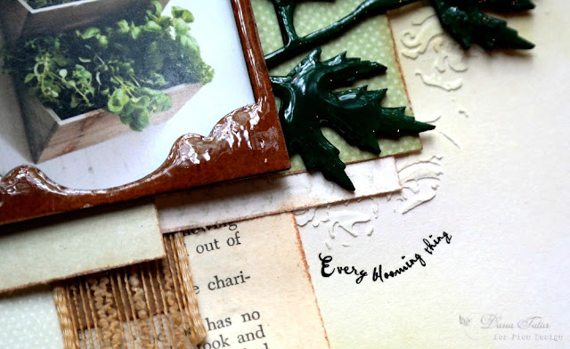 Rub-On SubTitle on a Spring Herb Garden Scrapbook Layout by Dana Tatar
