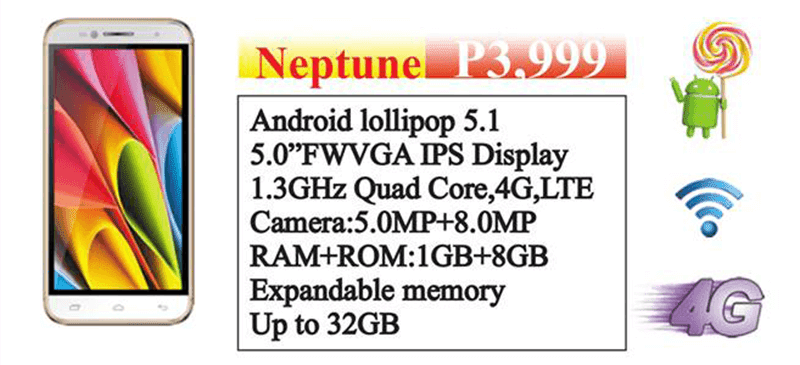 Telego Neptune LTE phone announced