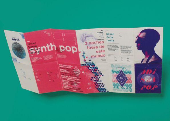 desain brosur unik dan kreatif yang mengusung budaya pop