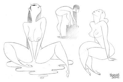 girls sketch by Lorenzo Sabia