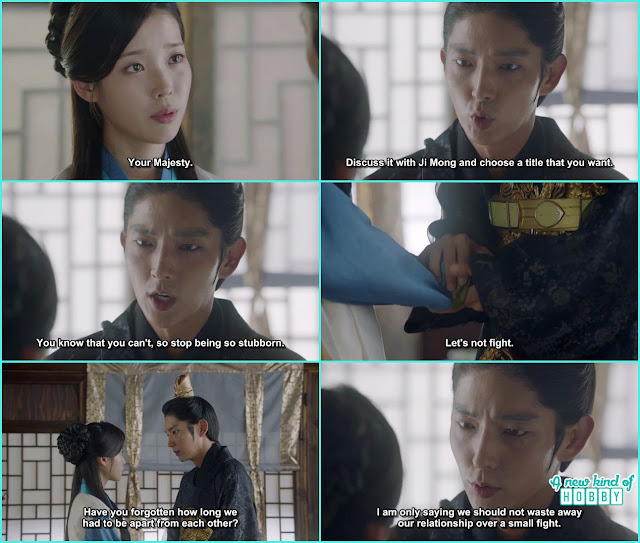 wang so told hae so they shouldn't waste their relation relationship on small fight- Moon Lovers Scarlet Heart Ryeo - Episode 19