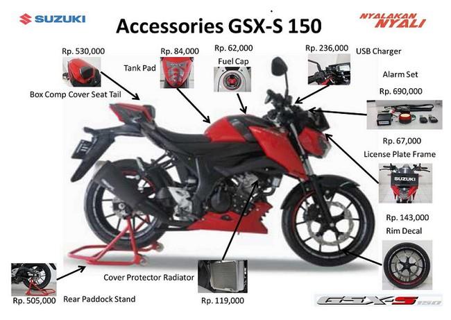 Harga Aksesoris Suzuki GSX S150