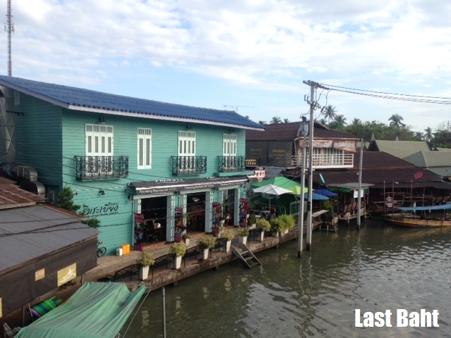 colorful guesthouses Ampawah floating market thailand