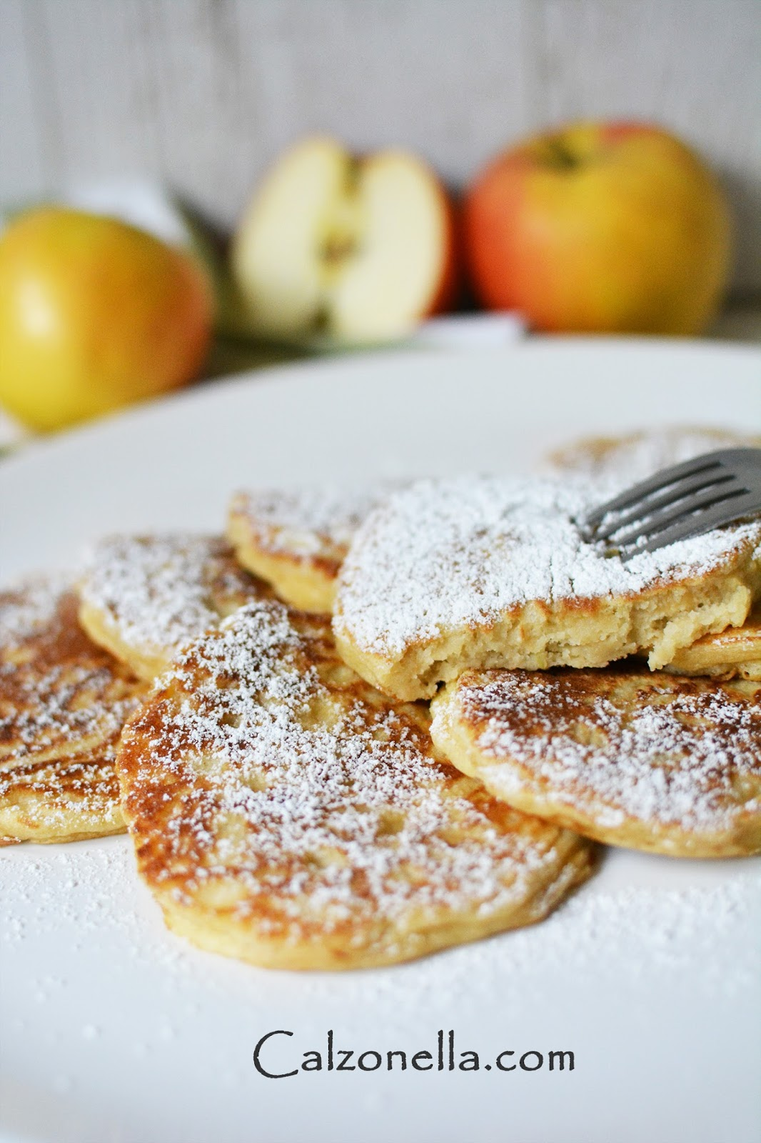 placuszki z jabłkami bez drożdży