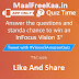 Quiz Time Answer & Win InFocus Vision 3 (Answer Added)