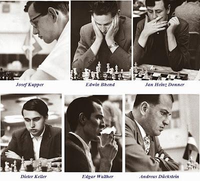 Zúrich 1959: Josef Kupper, Edwin Bhend, Jan Heinz Donner, Dieter Keller, Edgar Walther y Andreas Dückstein
