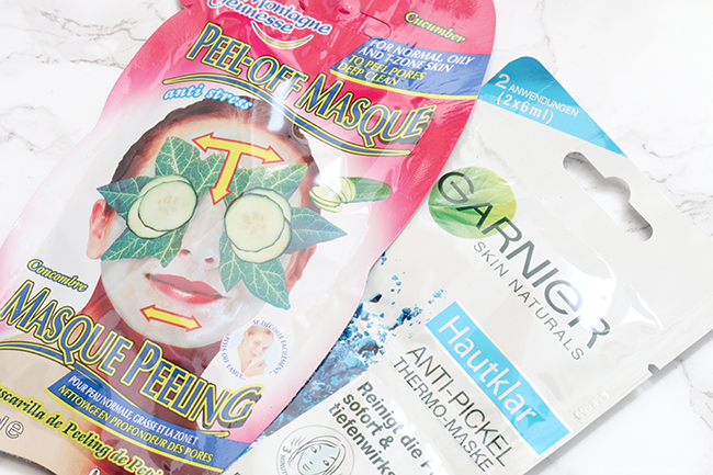 Garnier Pure Self-Heating Sauna Mask & Montagne Jeunesse Anti-Stress Cucumber Peel-off Mask