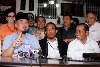 """Ahmad Dhani: """"Ini Bukan Gosip, Saya Mendengar Jokowi Mengancam Pengusaha untuk Mendukung Ahok"""""""