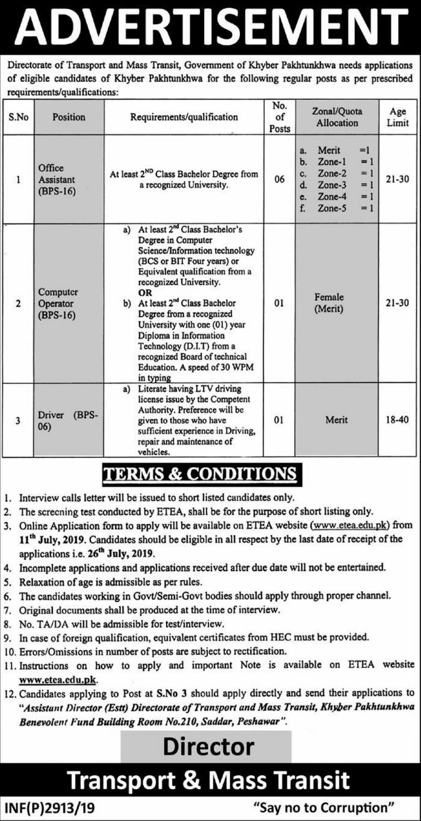 DTE of Transport And Mass Transit Jobs 2019 Through ETEA,transport and mass transit department jobs 2019,transit,transport and mass transit department new jobs 2019,jobs in transport and mass transit department,public transport (industry),transport and mass transit department,jobs in transport and mass in karachi 2019,transport and mass transit department jobs 2019 || tahseen jobs,public transit,government jobs,etea,jobs,kpk police jobs 2019,police jobs,etea jobs,etea test,etea jobs kpk,etea jobs 2019,new jobs,etea jobs online,govt jobs,etea apply,etea jobs in kpk 2019,latest jobs in kpk,etea jobs application form,polivce jobs 2019,etea forest department jobs 2019,new jobs in pakistan,etea mcqs,teachers jobs,etea forest department kpk jobs 2019 peshawar,todays jobs,pak jobs,tn police jobs,etea test 2019