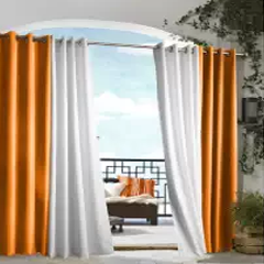 Outdoor decor Gazebo Indoor Outdoor Window Panels, 50 by 96, Orange
