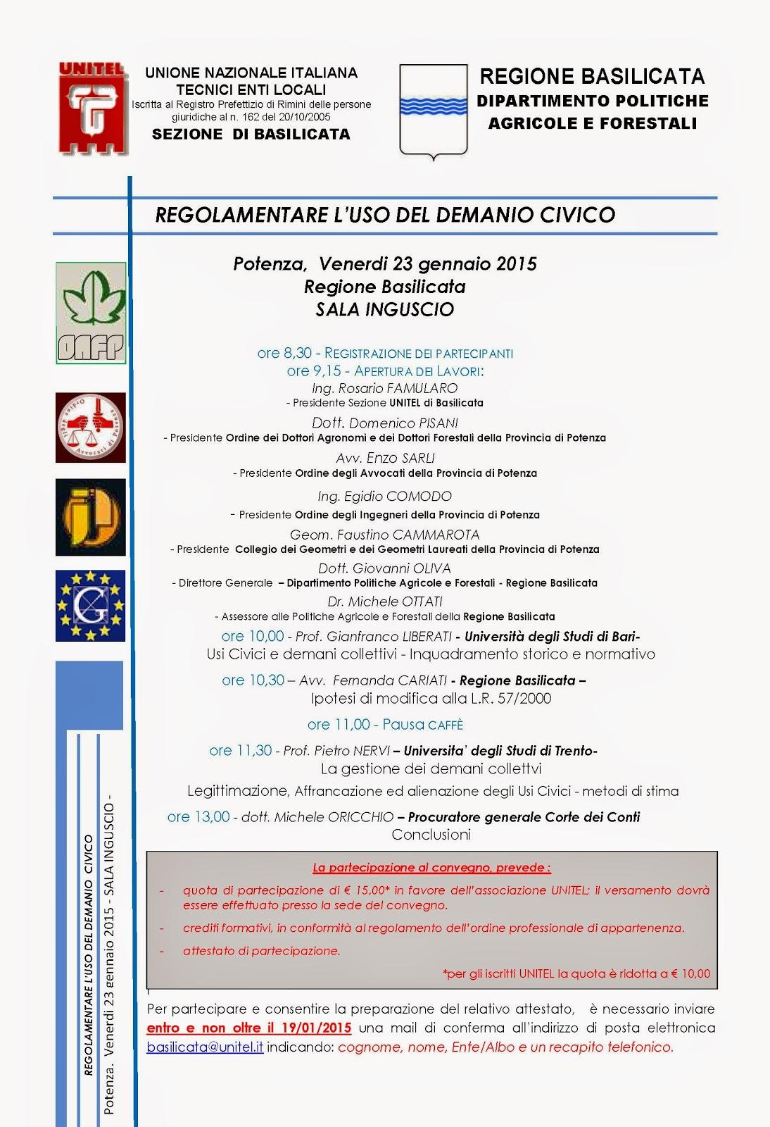Ordine Ingegneri Potenza Albo coordinamento regionale per la basilicata della consulta