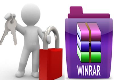 شرح عمل باسورد للملفات المضغوطة باستخدام برنامج الوينرار