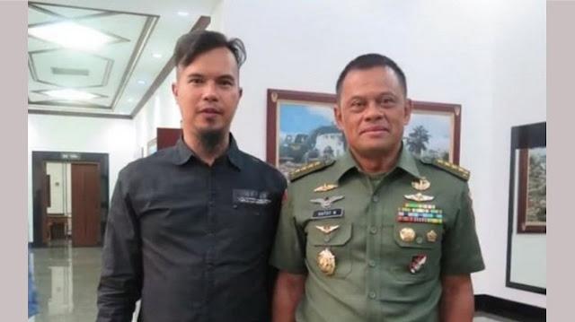 Foto & Video Ahmad Dhani Dengan Jenderal Gatot Beredar, Netizen Ungkap Keanehan dan Kejanggalannya