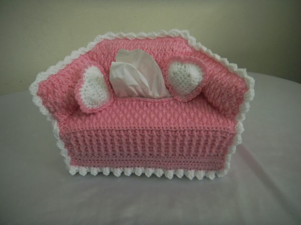Crochet Sofa Cover Patterns Fabric Repair Manchester For The Love Of Along Tissue Box