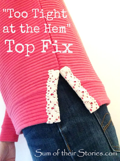 An easy fix for a top that is too tight at the hem