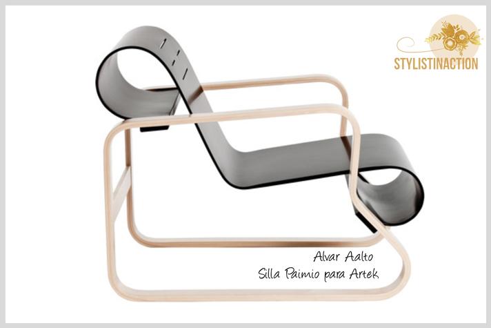 silla Paimio diseño de Alvar Aalto. foto post diseño nordico o escandinavo