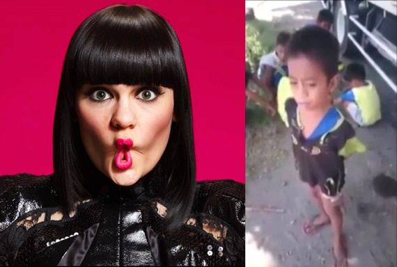 VIDEO: Bocah Kurus Dekil Nyanyi Lagu Flashlight Suaranya Keren Banget!