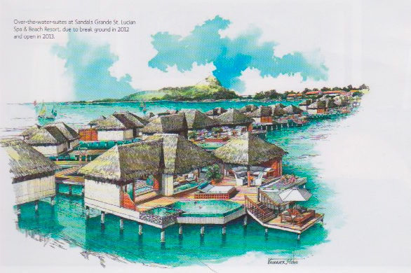 9 Overwater Bungalows Open At Sandals Grande St Lucian: Update On The Sandals St. Lucian Over-The-Water Bungalows
