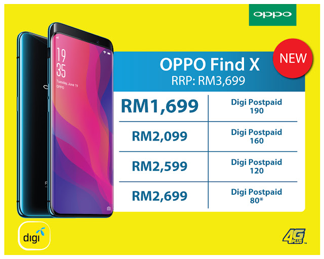 Digi introduces Digi Postpaid plan packages for OPPO Find X