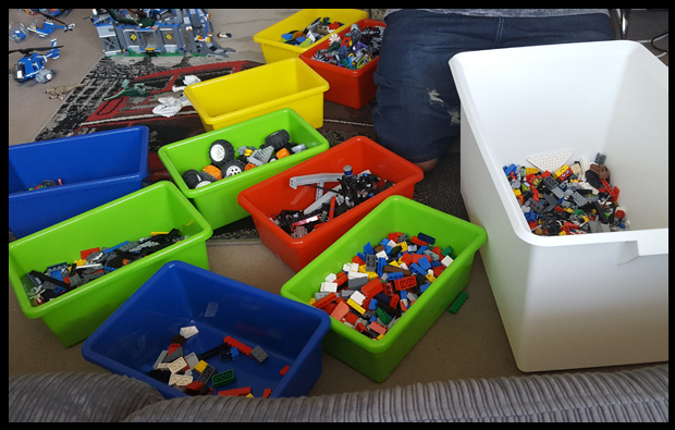 Using Toy Storage Unit as a storage home for all our random Lego bricks