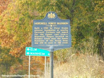 Hopewell Forge Mansion Historical Marker in Brickerville Pennsylvania