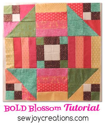 bold blossom tutorial button