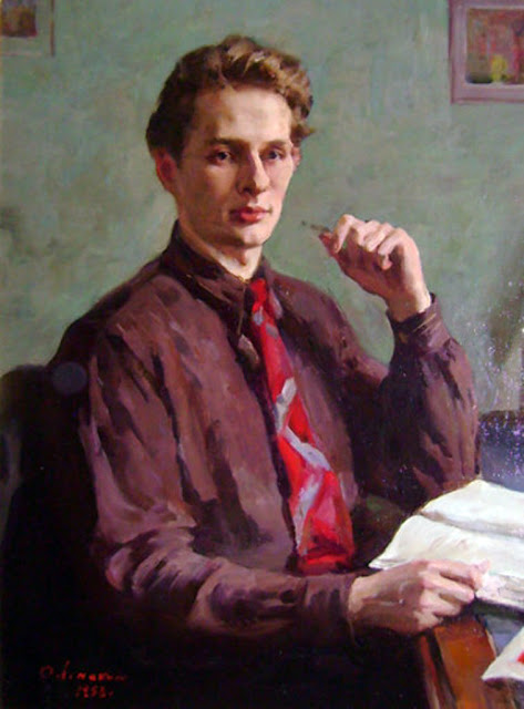 Oleg Lomakin, International Art Gallery, Self Portrait, Art Gallery, Portraits Of Painters, Fine arts, Self-Portraits, Portrait of Men, Oleg Leonidovich Lomakin