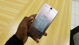 Infinix device with fingerprint scanner
