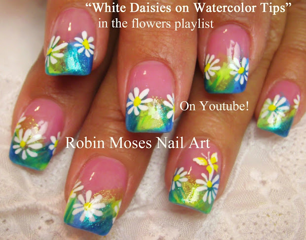 "Robin Moses Nail Art ""flower Nails"" ""matte ""nail ""dewdrop Water"