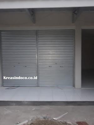Roling Door Besi Galvalum Pesanan PT Metland Indoprocon di Projek Jalan Radar AURI Depok